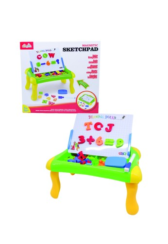 Toys Center Jakarta multi LEARNING CASE MEJA SKETCHPAD PAPAN MAGNETIC ANAK CA464TH11B4A02GS_1