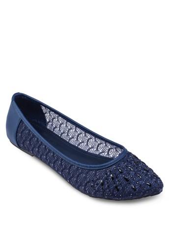 蕾絲尖頭娃娃鞋, 女鞋,esprit 鞋 鞋