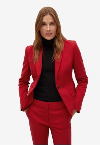 Mango red Structured Suit Blazer 2C7DBAAE763D85GS_1