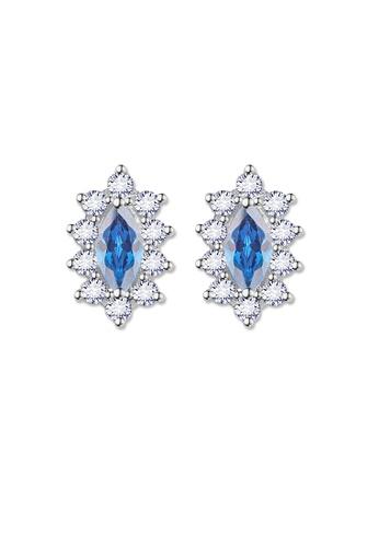 SC Tom Silver silver Crystal Oblong Birthstone Stud Earrings (March) SC872AC0J6HJPH_1