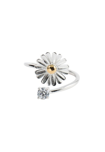 A-Excellence silver Premium S925 Sliver Flower Ring 8C45EACFF846EFGS_1