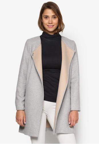 裹飾長版外套esprit outlet 台灣, 服飾, 夾克 & 大衣