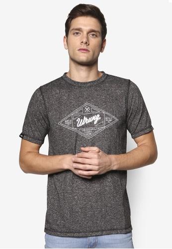Wrung 黑色 品牌文字設計TEE WR395AA62QHXMY_1