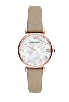 a4b965883c2 Emporio Armani brown Gianni T-Bar Watch AR11111 01C46AC9470012GS 1