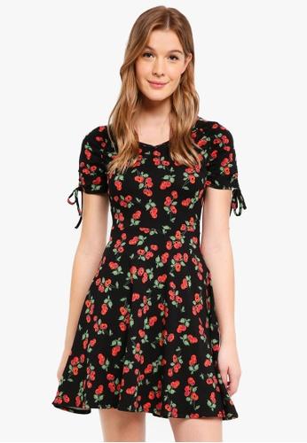 Dorothy Perkins 海軍藍色 Black Cherry Skater Dress 74A77AAA32B041GS_1