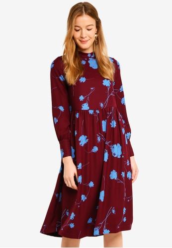 Vero Moda multi Zitta Long Sleeve Calf Dress 2E9ADAA1AD592EGS_1