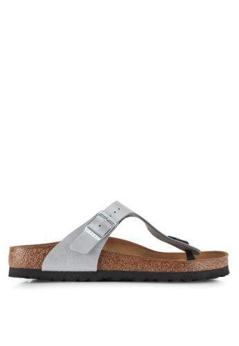 Birkenstock silver Gizeh Sandals BC4ADSH3FEFDD2GS_1