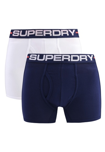 Superdry white and multi and navy Sport Double Pack Boxers 09624USC0FDDD2GS_1