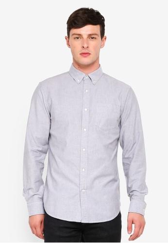 Banana Republic grey Grant Oxford Shirt 09A4EAAF65CF59GS_1