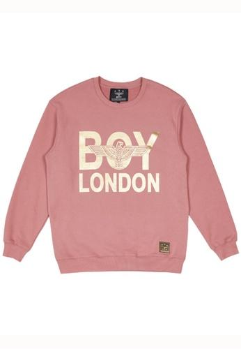 BOY LONDON 粉紅色 BOY LONDON SNAKE BOY SWEATSHIRT DDC5DAAC415FF9GS_1