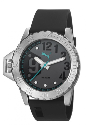 Puma Watches black PU103761004 NO 9 Silver Black Green Men Watch PU549AC0RKL7MY_1