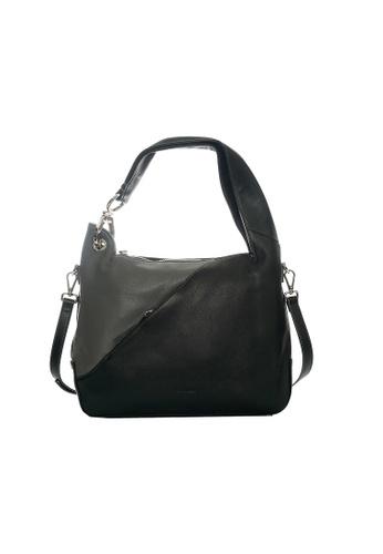 Pierre Cardin black and grey Helenor Small Hobo Bag E7A34AC4B3E0C9GS_1