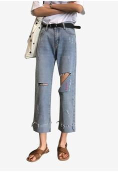 c4e8db5b8fc Lara blue Women Mid Rise Cropped Jeans 9FF62AA2617E2EGS_1