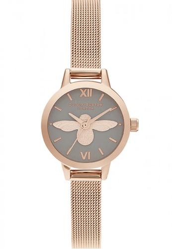 Olivia Burton silver Olivia Burton Semi Precious PEARL PINK 34mm Women's Watch 59A47AC0F7CEF9GS_1