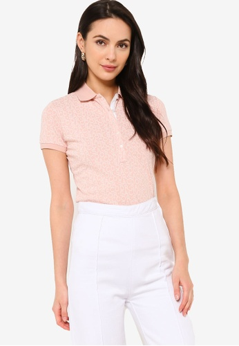 Sacoor Brothers pink Women's Sports Slim Fit Polo Piqué 9B4ECAA33AE747GS_1