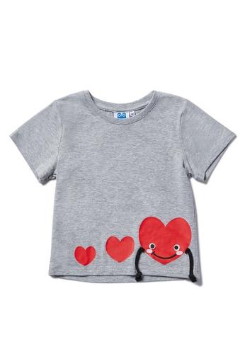 Vauva grey Vauva Hauska Kids 3D Little Heart Tee - Grey BF0EEKA08DB8D1GS_1