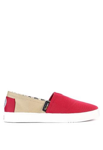 Wakai red and multi Cordura Chuo 417B2SH42B4DDFGS_1