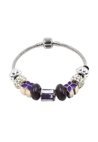 Venice Jewelry purple and silver Venice CB-0019 VE564AC84IGDPH_1