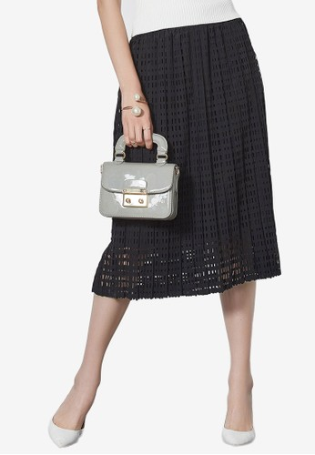 Hopeshow black Lace Double Layer Skirt 1FA22AA612D412GS_1