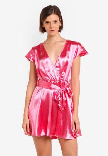 Glamorous pink Metallic Mini Dress 5C4DDAAD037452GS_1