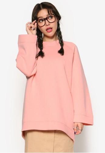 韓系時尚寬版拉克蘭長袖esprit 工作衫, 服飾, 外套