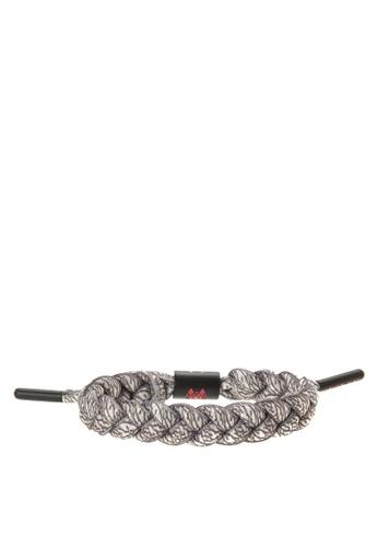 Rastaclat grey Shoelace Bracelet: Elephant RA072AC0JYONPH_1