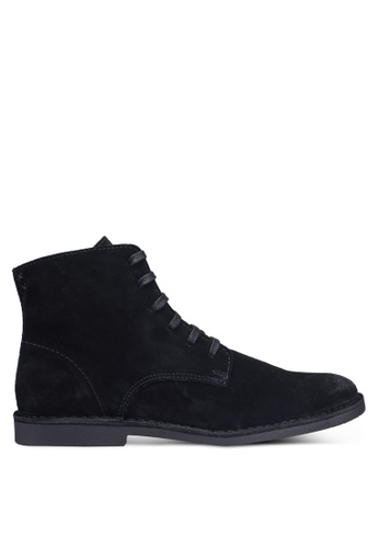 Selected Homme black Royce High Suede Boots 6D0F9SHA7217D6GS_1