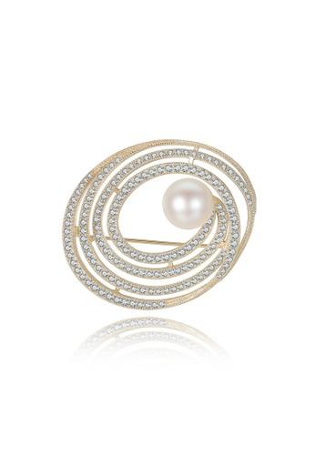 A.Excellence white Premium White Pearl brooch 8A9B3AC5C967E0GS_1
