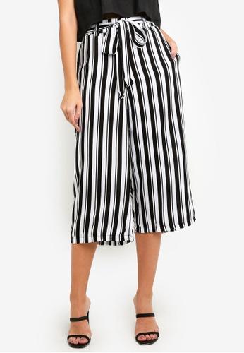 Supre black and white Crop Tie Waist Pants 74BCAAA107533FGS_1