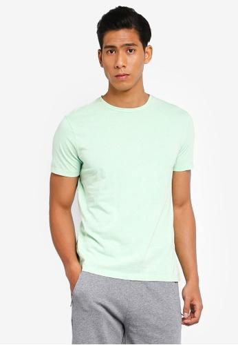 OVS 綠色 品牌刺繡T恤 F0448AA3E7CE86GS_1