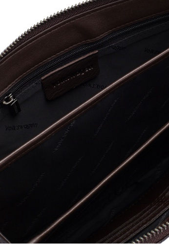 Volkswagen brown Volkswagen Genuine Leather Clutch Bag 5C779AC2865E39GS_1