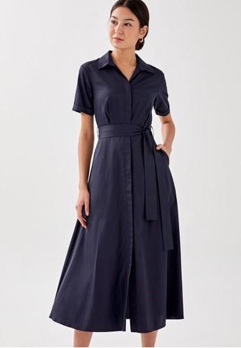 Love, Bonito navy Maurilie Midaxi Shirt Dress F19A5AA2551952GS_1