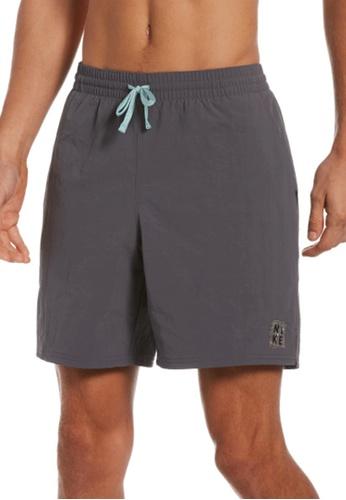 "Nike grey Nike Swim Men's Solid Icon 7"" Volley Short FE084USCF51E6CGS_1"