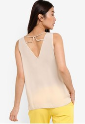 Dorothy Perkins beige Stone Built Up Cami DO816AA51SSQMY_1