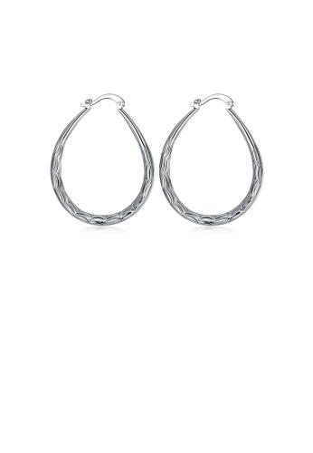Glamorousky silver Fashion Oval Fish Pattern Earrings E9323AC853C4A6GS_1