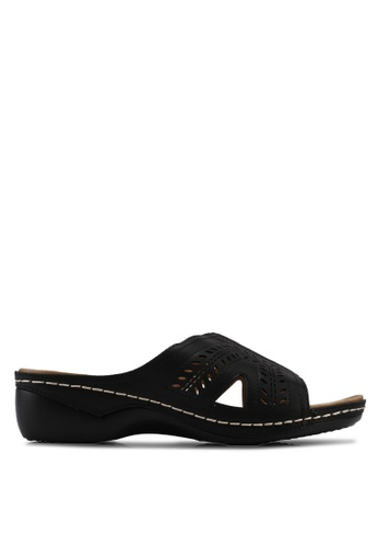 Alfio Raldo black Slip On Sandals 3B4B2SH5A8AE49GS_1