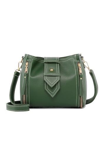 Lara green Women's Green Color Crossbody Bag AA67EAC3717F32GS_1