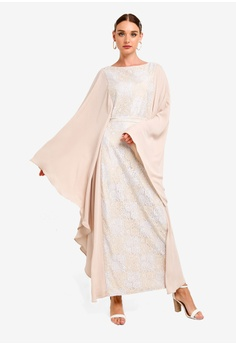 2e6853bf70 Zalia white Lace Kaftan Dress CCA4EAA2D89D85GS 1