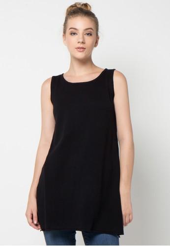 Noir Sur Blanc black Blouses & Tunics NO321AA73DDYID_1