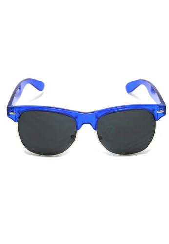 2i's to eyes black and blue Sunglasses│Blue Half-Rim Frame│Black Lens│UV400 protection│2is SeanS11 0B08CGL517EACBGS_1