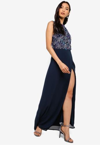 8ade45428 Shop Lace   Beads Keisha Embellished Wrap Maxi Dress Online on ...