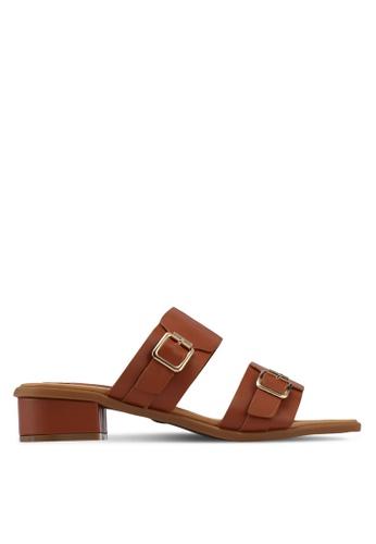 Alfio Raldo brown Strappy Heels 10EF7SHCE32B94GS_1