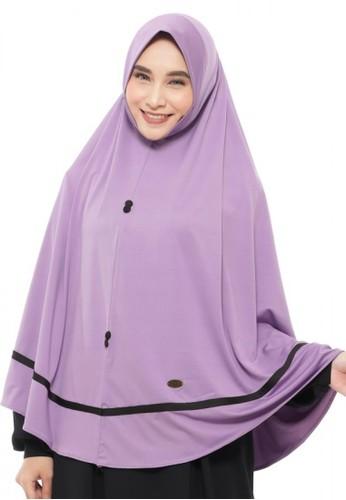 First Hijab purple Mahira Khimar Instan In Purple 8123EAA73D34E7GS_1