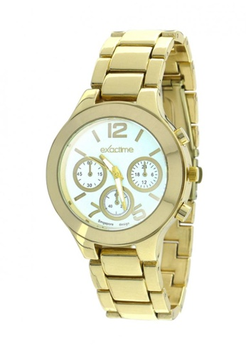 Dooka white and gold Exactime Singapore Design Stainless Steel Strap Watch H0602 DO079AC75KCUPH_1