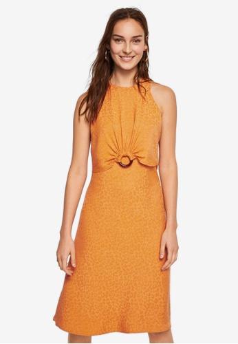 Mango orange Ring Leopard Dress DCFECAA1F3B362GS_1