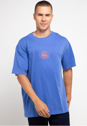 Quiksilver blue Global Groove Short Sleeve T-Shirt 8FBEDAA227EDA6GS_1
