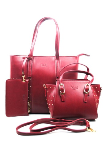 Kimbel International red HGZ70113 3in1 Handbag KI262AC0J9X7PH_1