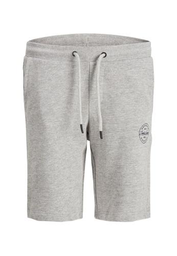 Jack & Jones grey Basic Sweat Shorts 715AFKA9B82ACEGS_1