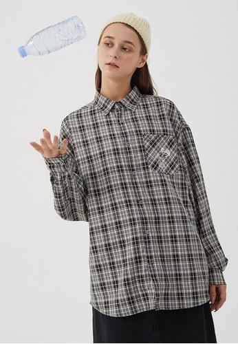 Twenty Eight Shoes Loose-Fitting Plaid Shirt HH0886 64749AA6849C65GS_1
