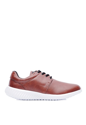 Life8 brown Lightweight Leather Simple Casual Shoes-09632-brown LI283SH0FVA9SG_1